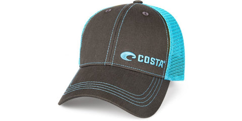Costa Del Mar Neon Trucker Black Hat Neon Blue