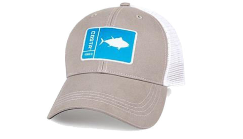 Costa Del Mar Original Patch Tuna Gray/White New 2017 Hat