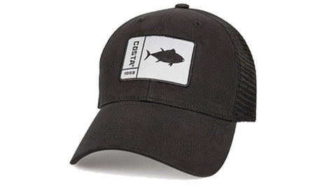 Costa Del Mar Original Patch Tuna Trucker Hat - Black/Black