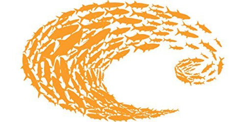 Costa Del Mar Schoolin' Orange Large Decal