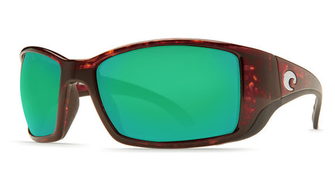 Blackfin Tortoise Frame Mirrored Green Lens