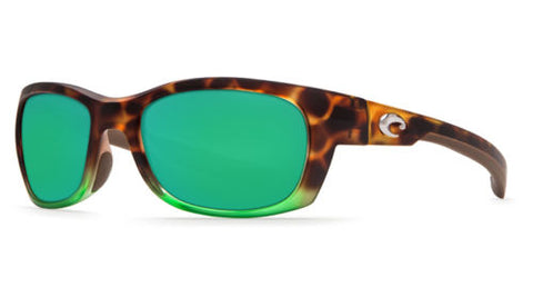 Costa Del Mar Trevally Matte Tortuga Fade Frame Green Mirror Lens Sunglasses