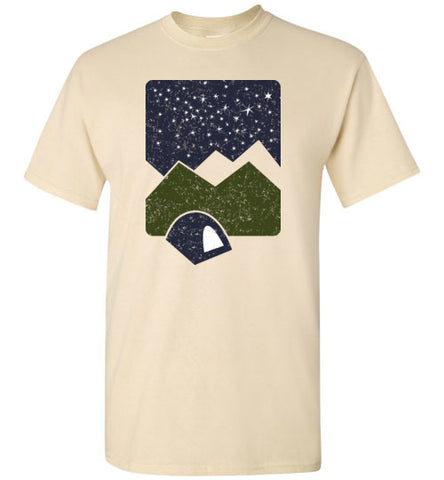 Men's Starry Night Camping T shirt