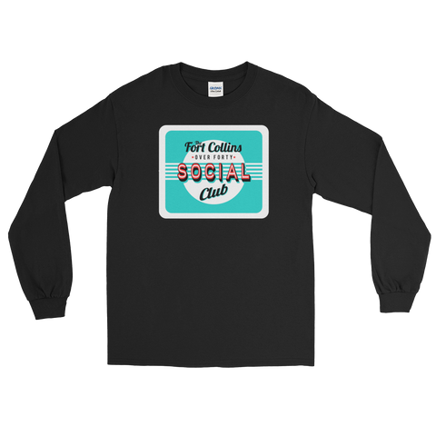 The Fort Collins Over 40 Social Club Meetup - Retro Long Sleeve