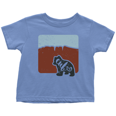 Bear Cub Toddler T shirt - Red Hills