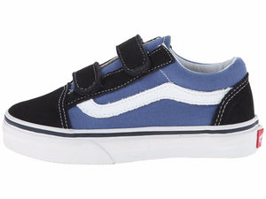 924343c84f Vans Youth Old Skool Velcro Navy True White VN000W9TNWD Kids Skate Shoe