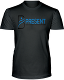 B Present Adult Men's T-Shirt Logo Front Back