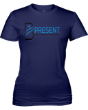 B Present Ladies T-shirt Logo Front & Back