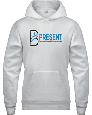 B Present Adult Hoodie Logo Front & Back