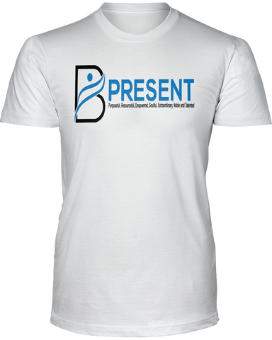 B Present Men's Short Sleeve T-Shirt Logo Front & Back