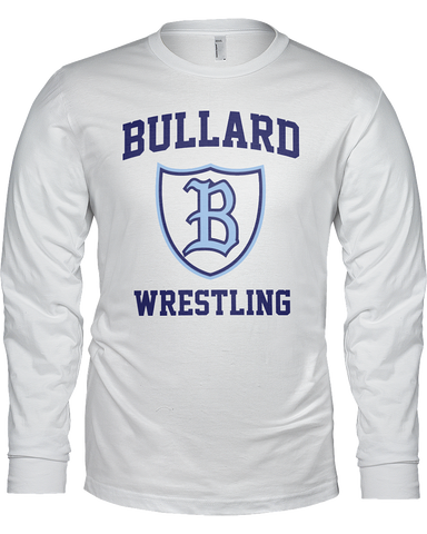 Bullard Wrestling Men's Long Sleeve T W/Rear B Crest Logo