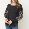 Animal Print Mix Sandwash Modal Top