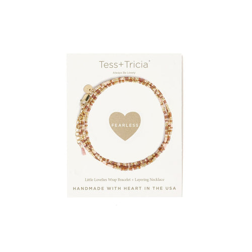 "LITTLE LOVELIES ""FEARLESS"" CARDED BRACELET"
