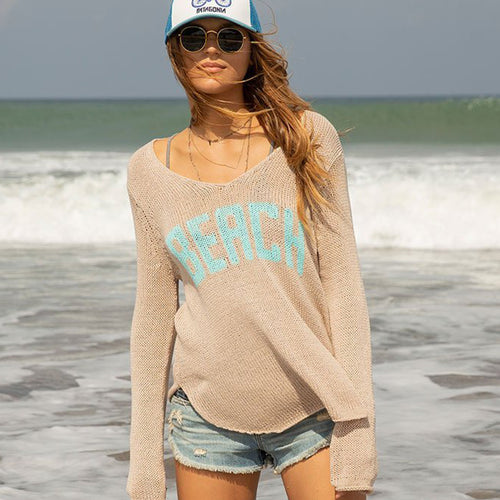 BEACH V-NECK COTTON