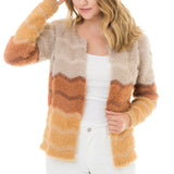 FUR STRIPED JACKET