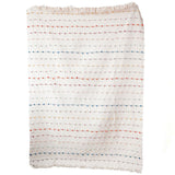 Embroidered Loop Throw