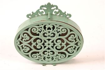 Pewter Mantel Clock - Aqua