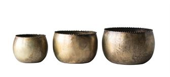 Metal Planters - Set of 3