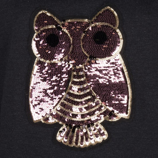 Owl Patch Sweatshirt
