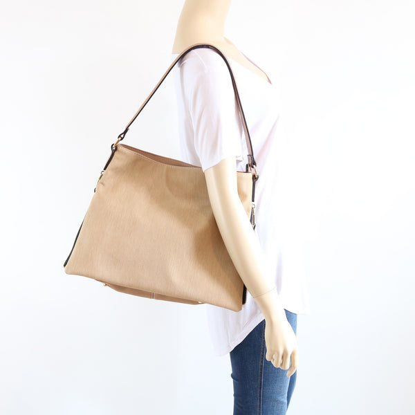 Double Side Zipper Expandable Shoulder Bag