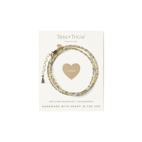 "LITTLE LOVELIES ""LUCK"" CARDED BRACELET"