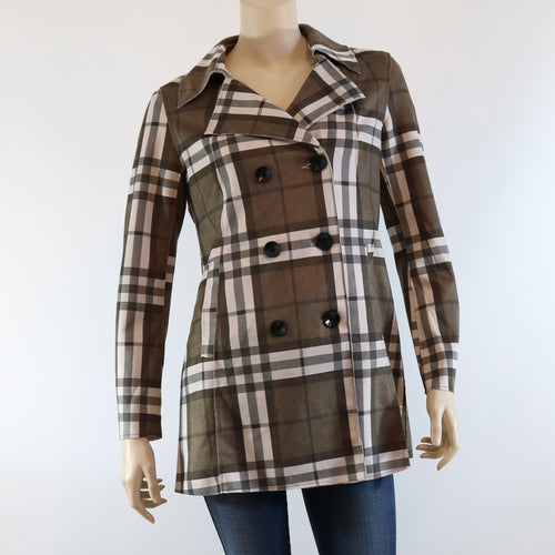 Plaid Button Jacket