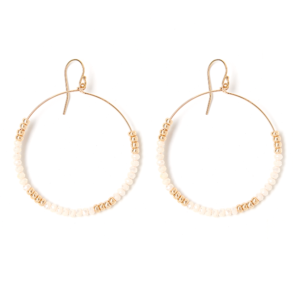 LILA CREAM EARRING