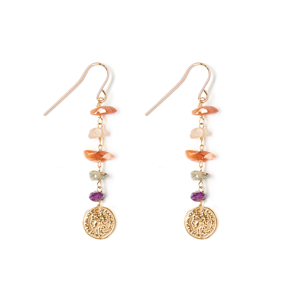 ROCKY MULTI-NATURAL DROP EARRING