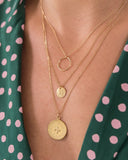 LITTLE LOVELIES CIRCLE CARDED CHARM NECKLACE