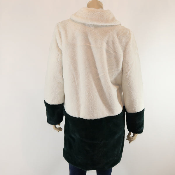 Two Color Faux Fur Jacket