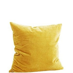 nookoo yellow velvet cushion by madam stoltz