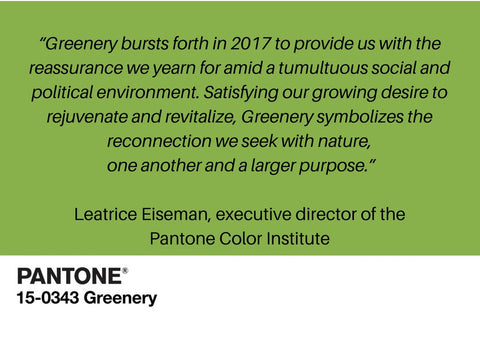 nookoo pantone 2017 greenery trend for interiors