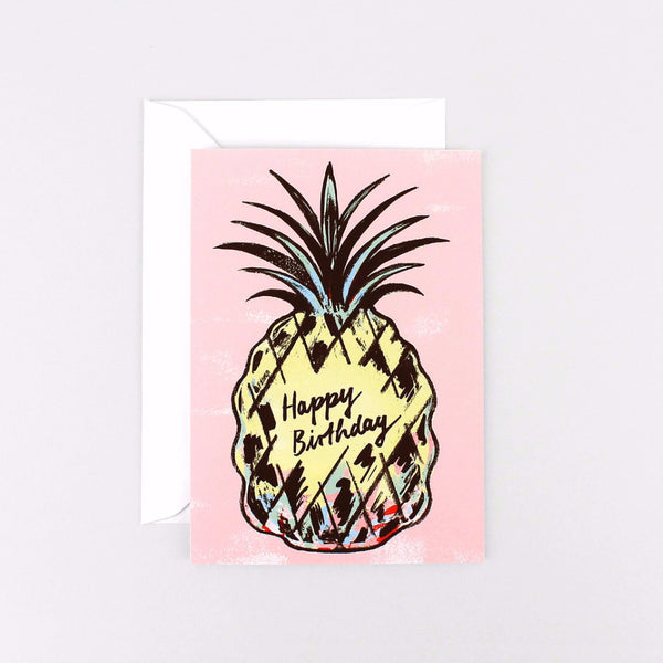 Pineapple Happy Birthday Card suitable for friends or family by Wrap Magazine