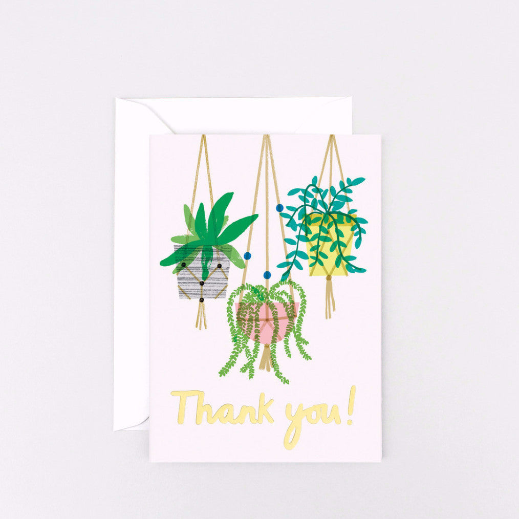 'Thank You Macramé' Foiled Greetings Card-Nookoo