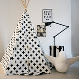 Cross White and Black kids Teepee Living Room by Wildfire Teepees