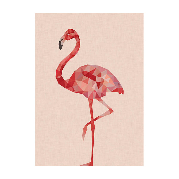 Pretty Flamingo poster for baby girls bedroom or above a fireplace. We love this design by East End prints, very on-trend, also looks great in a feature wall.