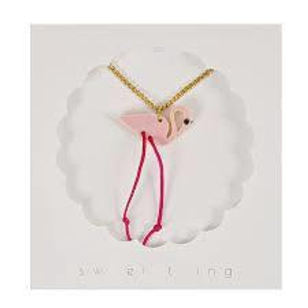 nookoo flamingo necklace from Meri Meri