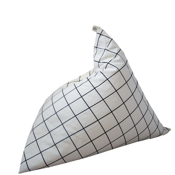 Grid Print Bean Bag-Nookoo