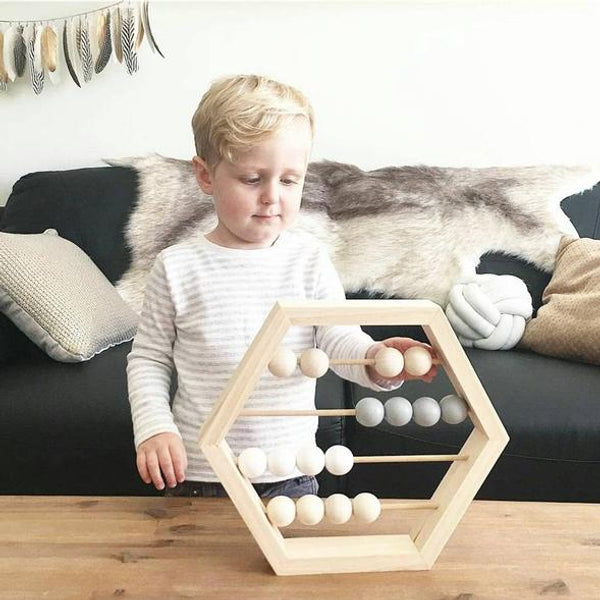 NOOKOO HEXAGON ABACUS - PERFECT FOR MONOCHROME KIDS DECOR