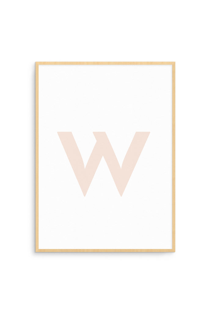 nookoo minimalist letter print by Born Lucky