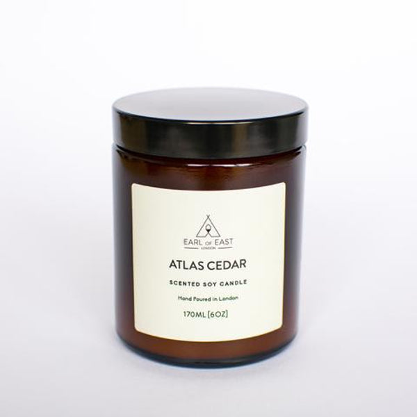EARL OF EAST soya candles, handmade in East London. Perfect gift, we love this Atlas cedar scent