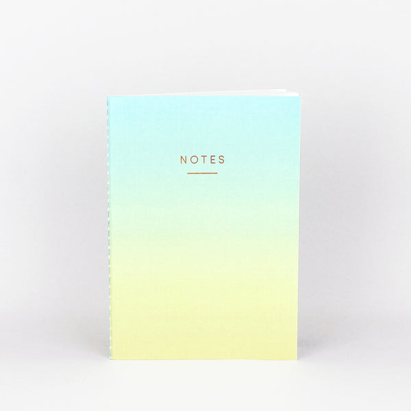 Blue and Yellow Ombre notebook stationary for home or office