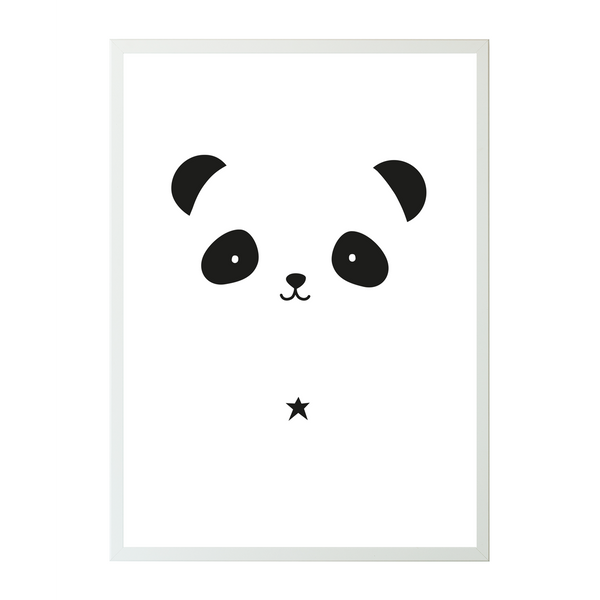 nookoo Panda poster perfect for unisex nursery by A Lovely Little Company