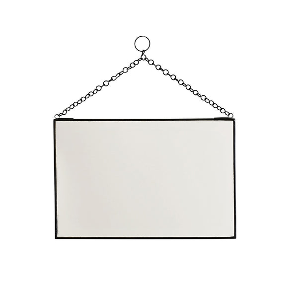 Rectangular Hanging Mirror - Black-Nookoo