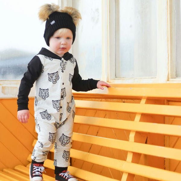 nookoo Tiger hooded romper by JM Kids, perfect for little fashionistas
