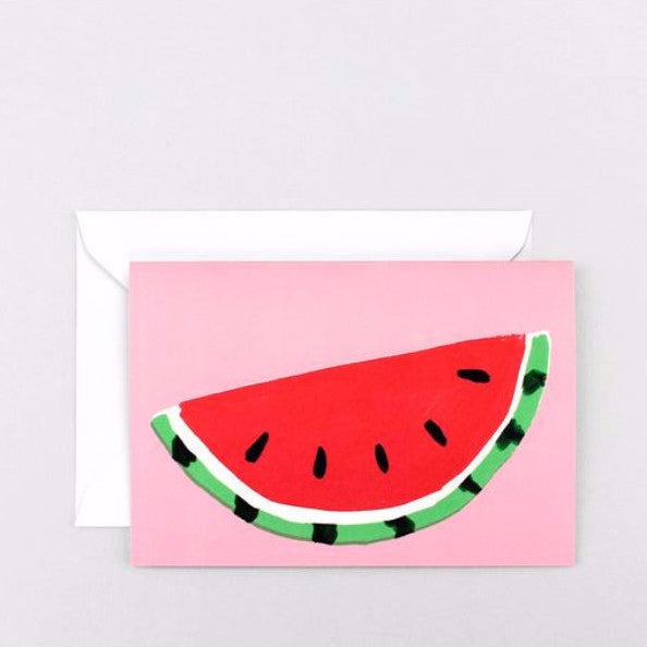 Watermelon Pink Greeting Card by Wrap Magazine