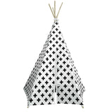 Cross Print White Trim Teepee-Nookoo