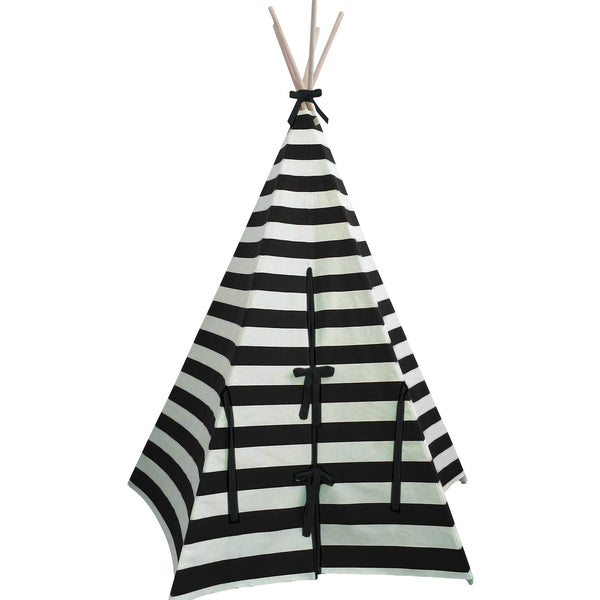 Wildfire kids Teepee black and white stripe baby bedroom