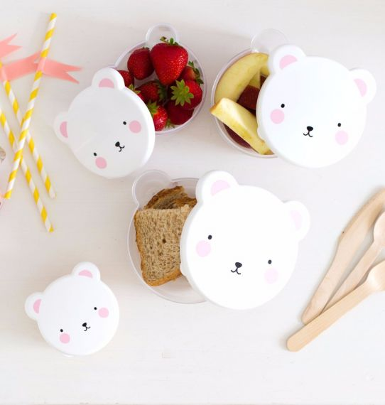 Snack boxes Bear (Set of 4)-Dinner set-Nookoo