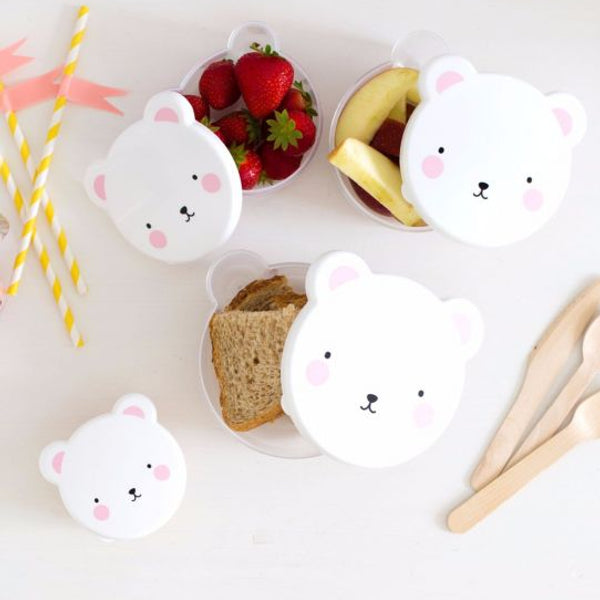 nookoo bear snack pots by a lovely little company